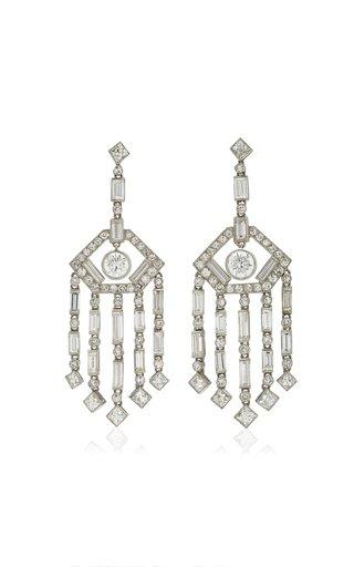 Wonderland Haute Chandelier Platinum Diamond Earrings
