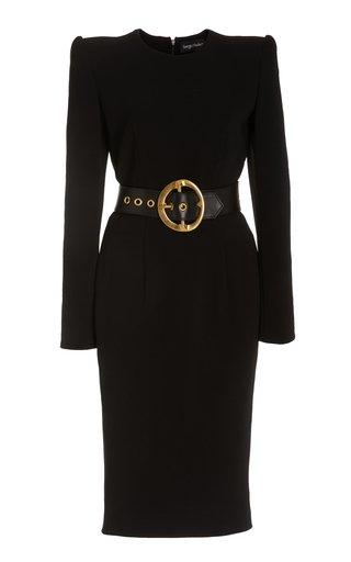 Signature Belted Crepe Dress