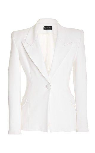 Single-Breasted Crepe Jacket