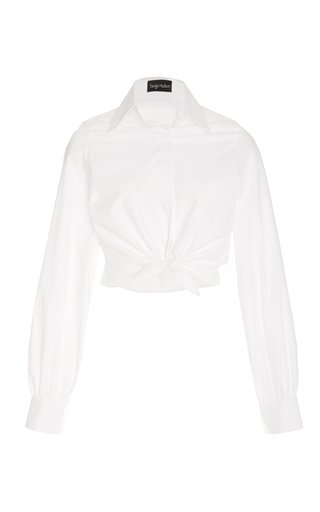 Tie-Detailed Cotton Top