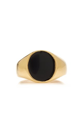 Exclusive Tosh 14K Gold-Plated Signet Ring