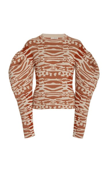 Livia Printed Wool Pullover