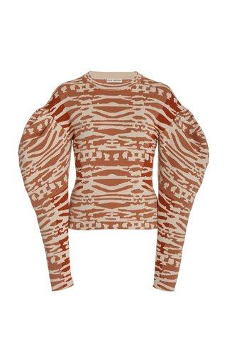 Livia Jacquard-Wool Pullover Sweater