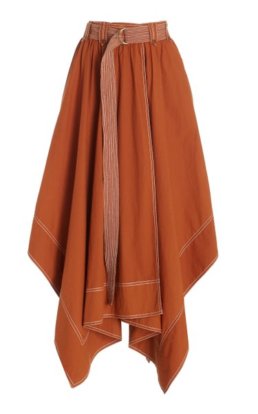 Brea Belted Cotton Skirt