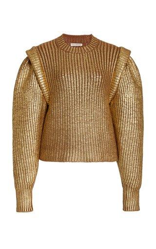 Victoire Metallic Wool-Cashmere Sweater