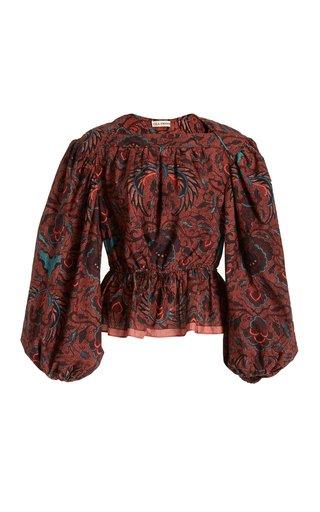 Mireya Printed Cotton Blouse