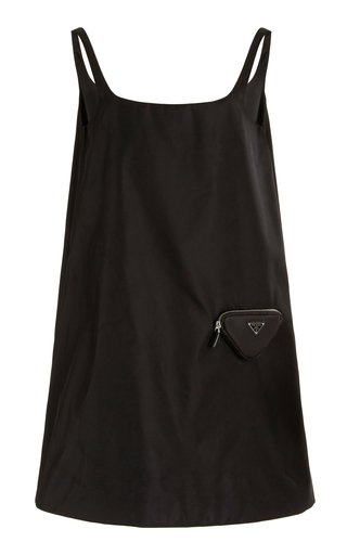 Nylon-Gabardine Mini Dress