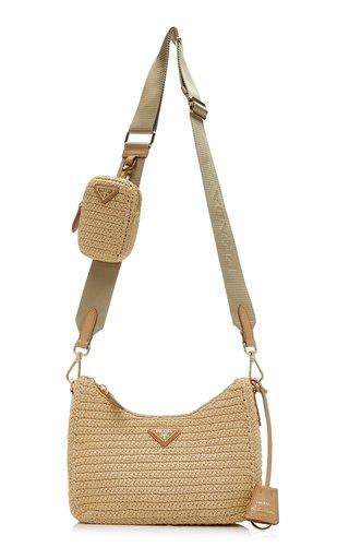 Re-Edition 2005 Raffia Crossbody Bag