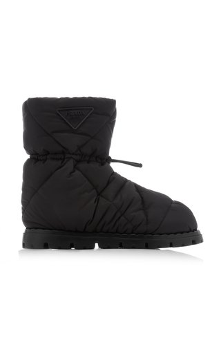Down-Quilted Nylon Ankle Boots