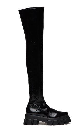 Patent Leather Over-The-Knee Boots