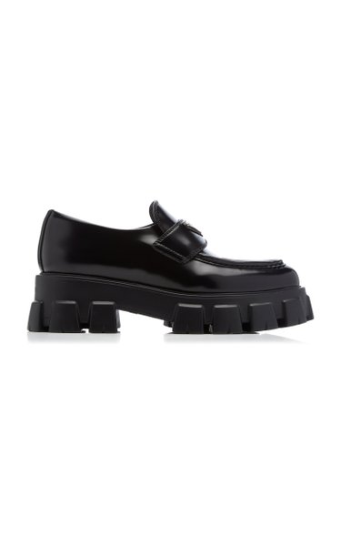 Leather Pointed-Toe Loafers