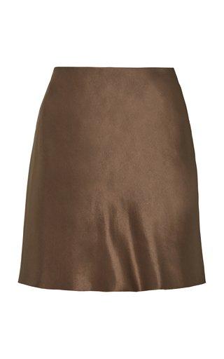 Satin Mini Slip Skirt