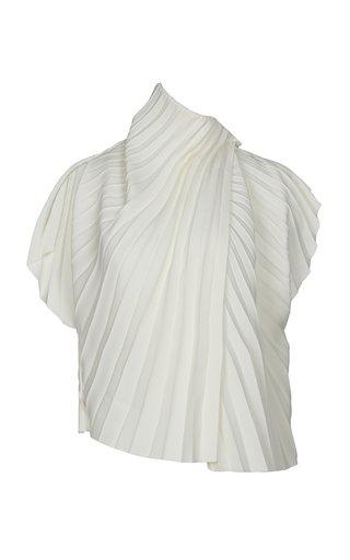 Pleated Crepe Shirt