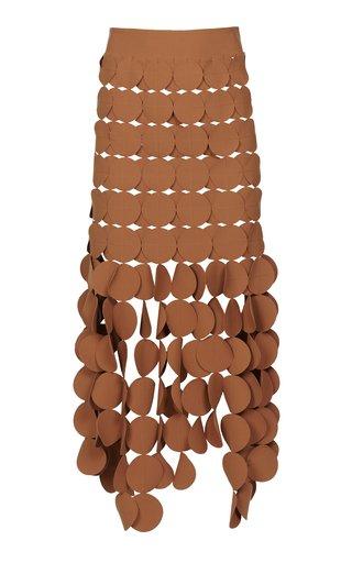 Layered Cotton-Blend A-Line Skirt