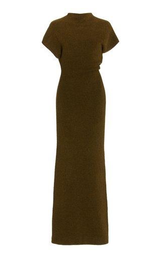 Twisted Wool-Knit Maxi Dress