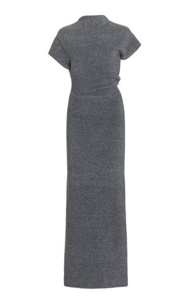 Knit Twisted Merino Wool-Blend Maxi Dress