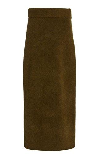 Wool-Knit Maxi Skirt
