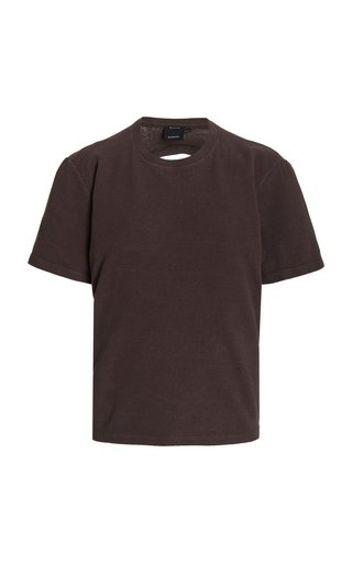 Eco Oversized Cutout Cotton T-Shirt