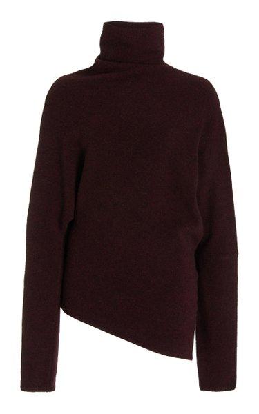 Knit Merino Wool-Blend Twisted Turtleneck