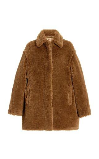 Viale Alpaca, Wool, and Silk Teddy Coat