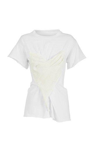 Lady Love Jacquard-Paneled Cotton T-Shirt