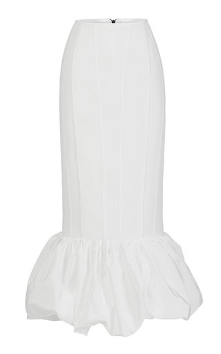 Vindicate Flared Crepe Midi Skirt