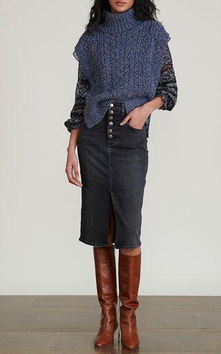 Collina Cable-Knit Vest