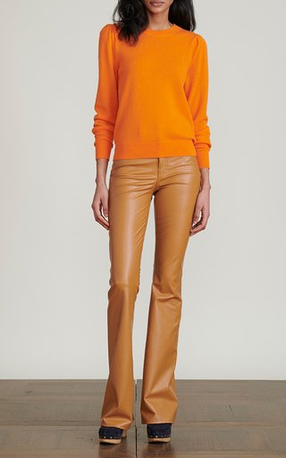 Beverly Vegan Leather Flared Pants