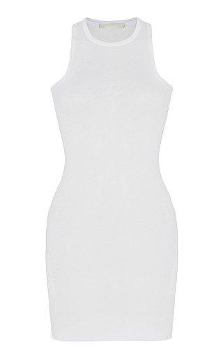 Ribbed Cotton Jersey Mini Tank Dress
