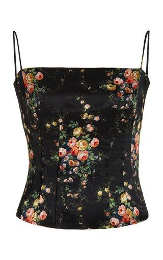 Taya Floral Silk Camisole Top