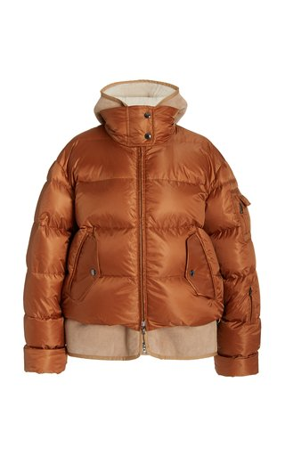 Lily Sherpa-Lined Down Puffer Jacket