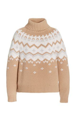 Sophi Fair Isle Cashmere Turtleneck Sweater
