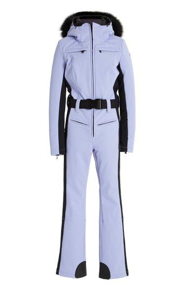 Parry Fur-Trimmed Shell Ski Suit
