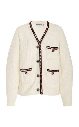 Jewel-Embellished Knit Cardigan