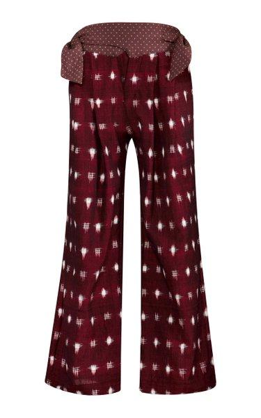 Cortina Ikat Cotton Wide-Leg Pants
