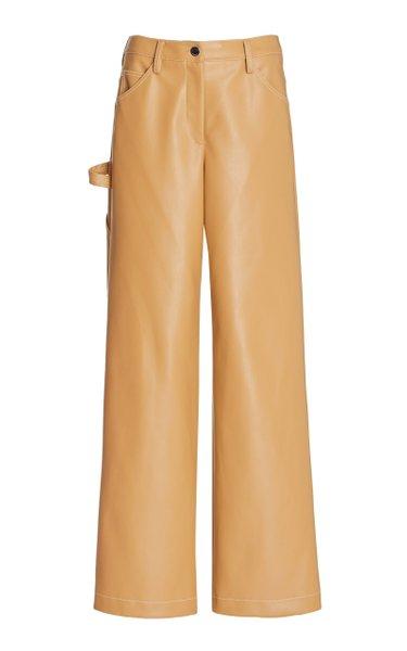Domino Vegan Leather Wide-Leg Pants
