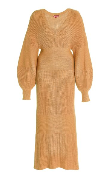 Carnation Ribbed-Knit Midi Dress