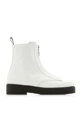 Palermo Zipped Leather Ankle Boots