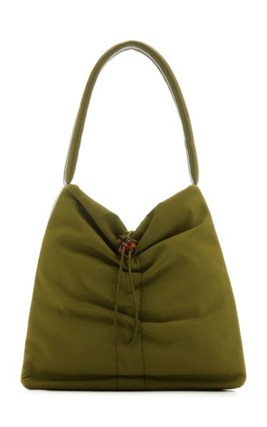 Felix Ruched Nylon Shoulder Bag