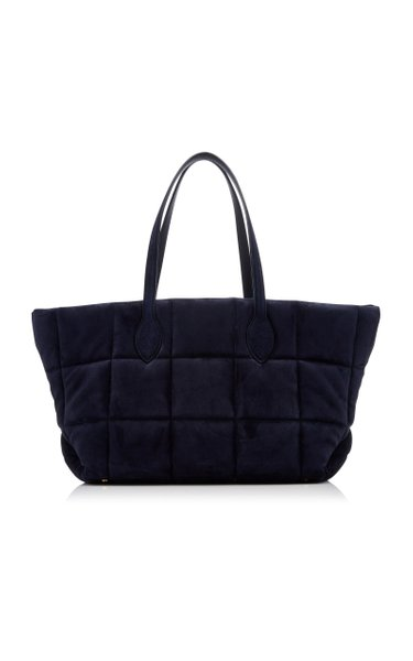 Quilted Suede Florence Tote