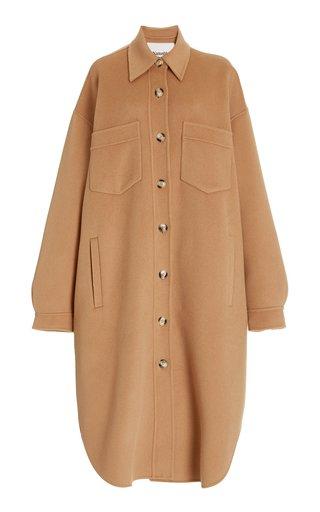 Cruza Oversized Wool-Silk Shirt Jacket