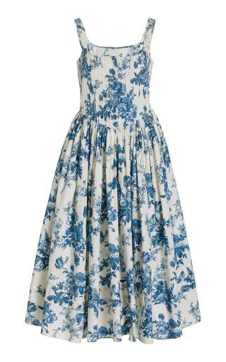 Majory Floral Cotton Midi Dress