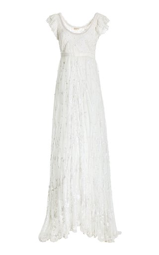 Sho Embroidered Lace Maxi Dress