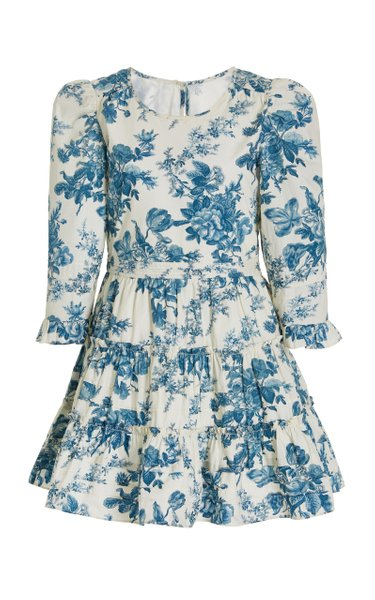 Lienzo Floral Cotton Mini Dress