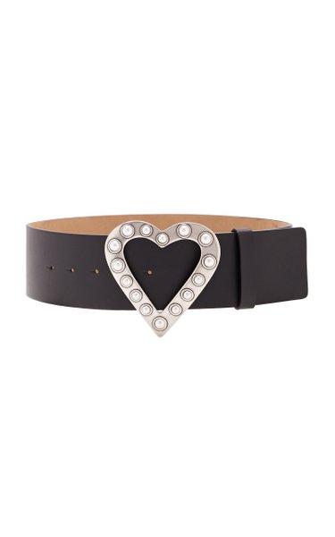 Pearl Heart Buckle Belt