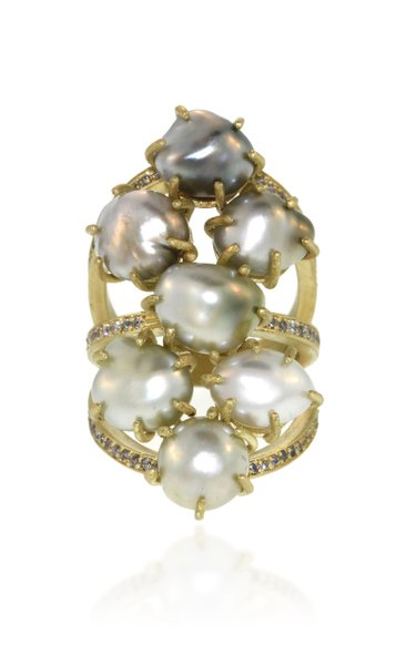 Seven Seas 18K Gold, Pearl and Diamond ring