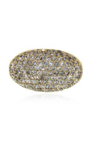 18K Gold Pavé Diamond Ring