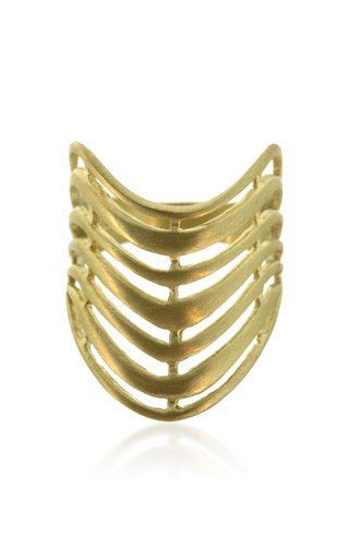 18K Gold Wave Ring