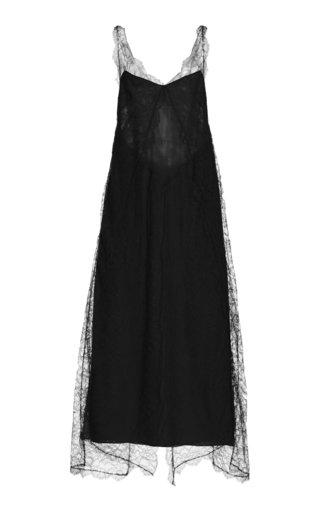 Ash Lace-Detailed Georgette Maxi Dress