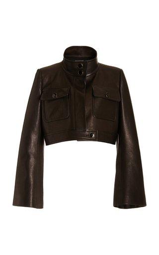 Carlisle Cropped Leather Jacket